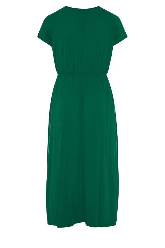 YOURS LONDON Forest Green Pocket Midaxi Dress_BK.jpg