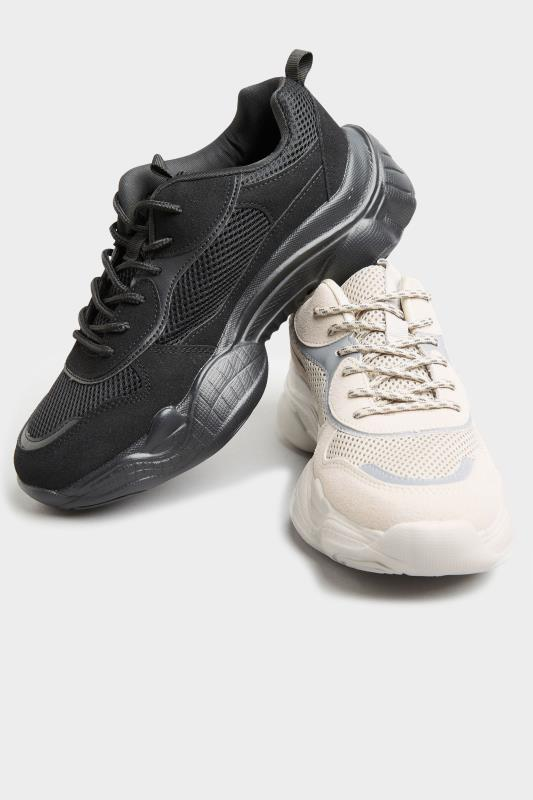 LIMITED COLLECTION Stone Mesh Lace Up Chunky Trainers In Regular Fit_E.jpg