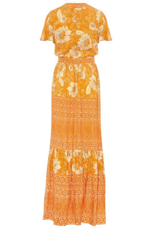 LTS Orange Floral Tiered Boho Maxi Dress_BK.jpg