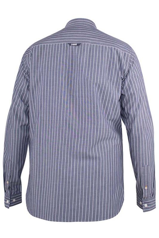 D555 Grey Frankston Stripe Long Sleeve Shirt