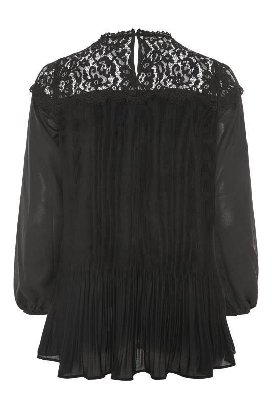 YOURS LONDON Black Lace Pleat Tunic_BK.jpg