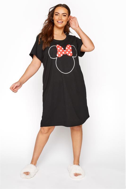 DISNEY Black Minnie Mouse Bow Nightdress