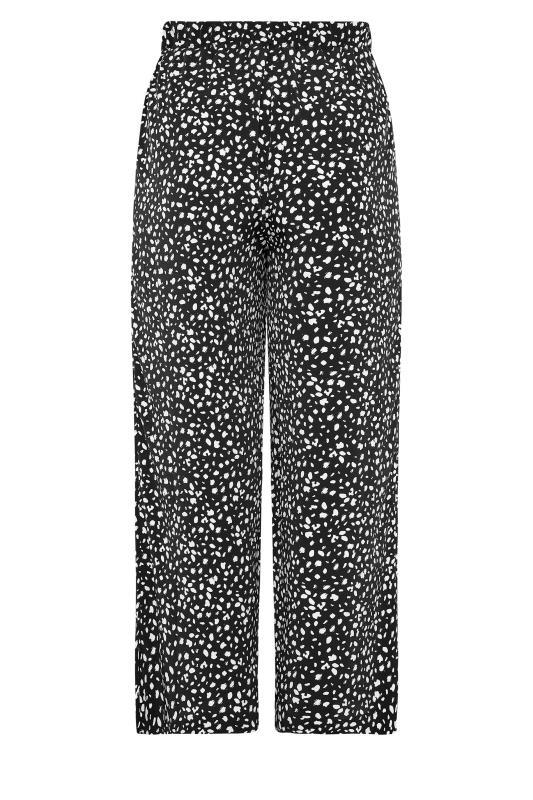 THE LIMITED EDIT Black Speckled Print Wide Leg Trousers_BK.jpg