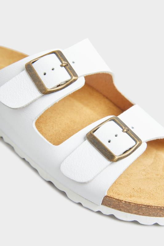 White Leather Two Buckle Footbed Sandals_D.jpg