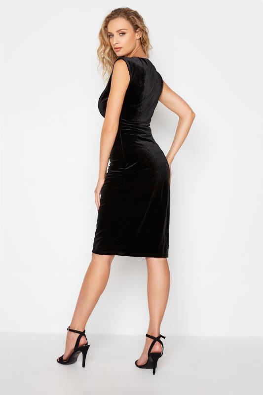 LTS Black Cowl Neck Velvet Dress_C.jpg