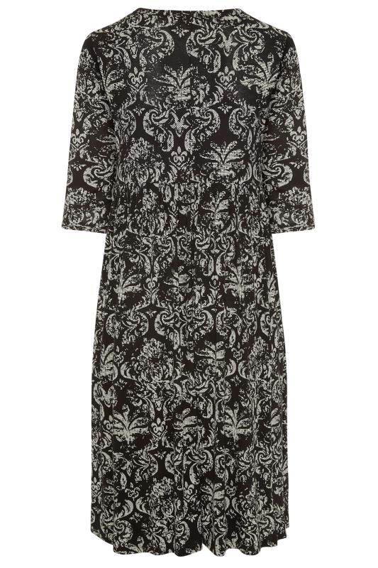 LIMITED COLLECTION Black Paisley Print Midaxi Dress_BK.jpg