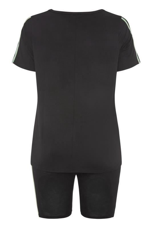 BUMP IT UP MATERNITY Black Stripe T-shirt & Shorts Set_bk.jpg