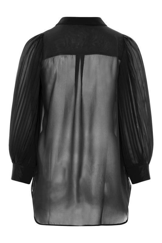 YOURS LONDON Black Pleated Balloon Sleeve Shirt_BK.jpg