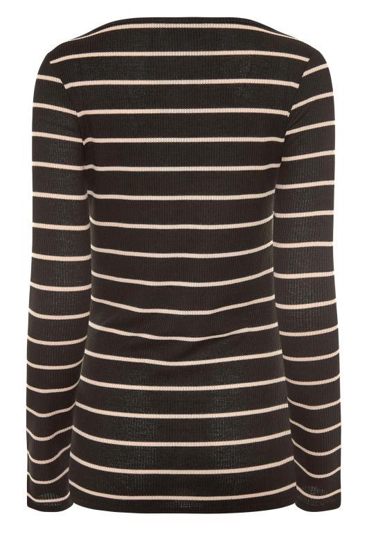 LTS Black Square Neck Stripe T-Shirt_BK.jpg