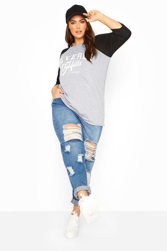 LIMITED COLLECTION Grey Beverly Hills Raglan Top