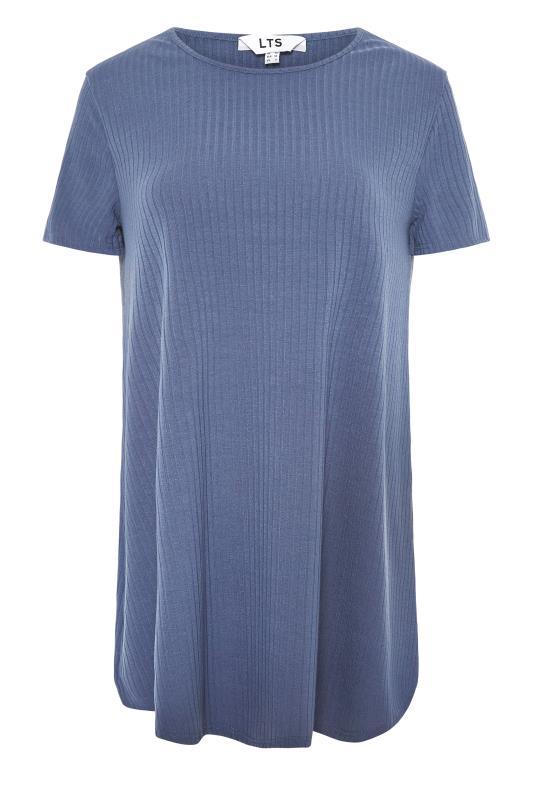 LTS Denim Blue Swing Ribbed T-Shirt_F.jpg