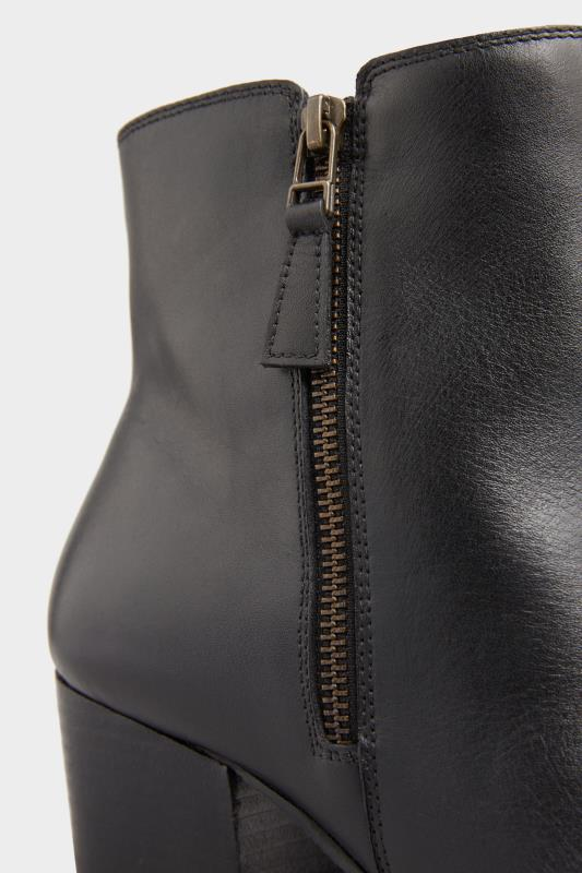 Black Leather Western Ankle Boots In Extra Wide Fit_D.jpg