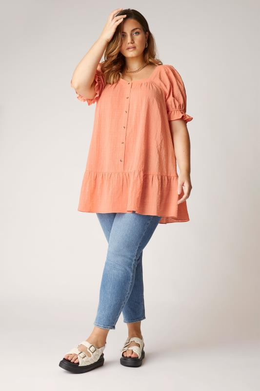 THE LIMITED EDIT Coral Puff Sleeve Tunic_B.jpg