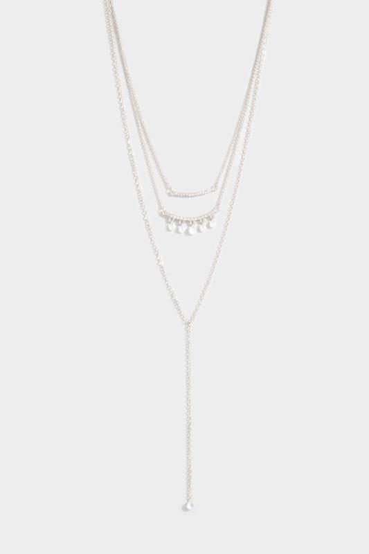 Silver Two Tier Diamante Necklace_153769.jpg