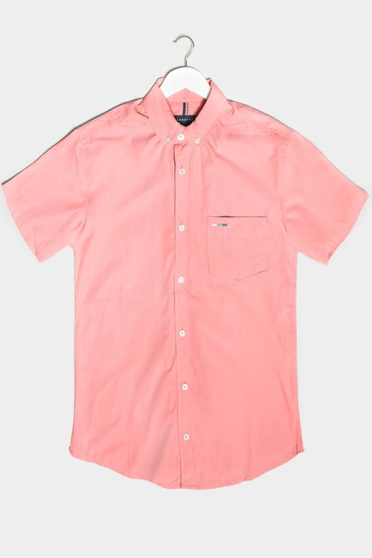 Men's  BadRhino Pink Essential Short Sleeve Oxford Shirt