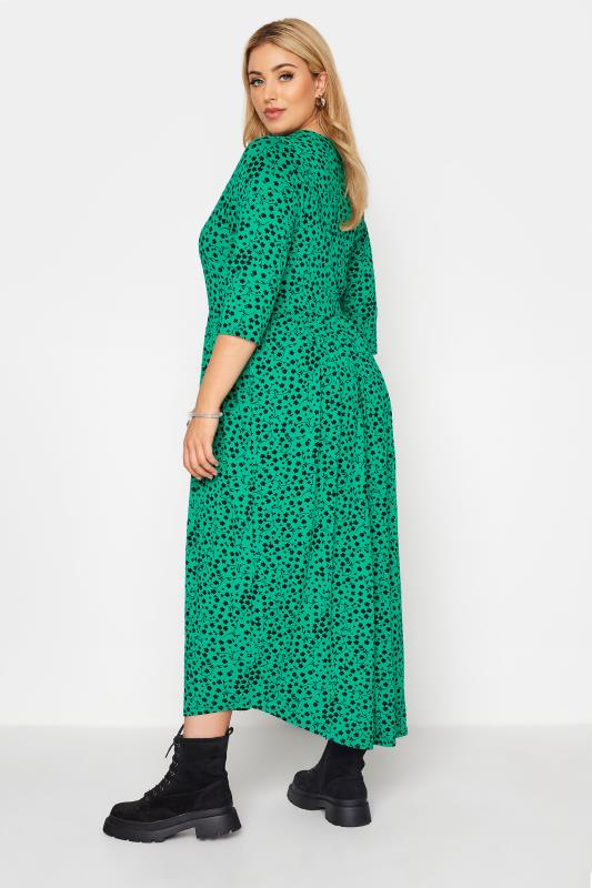 LIMITED COLLECTION Green Floral Button Midaxi Dress_C.jpg
