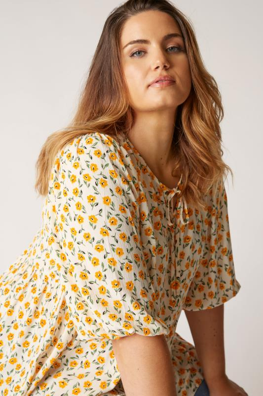 THE LIMITED EDIT White Floral Frill Hem Tunic_D.jpg
