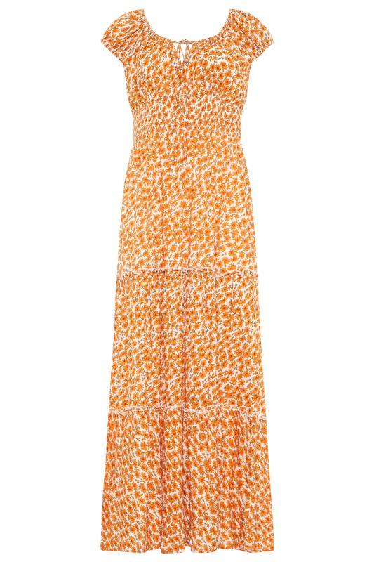 LTS Orange Tiered Shirred Maxi Dress_F.jpg