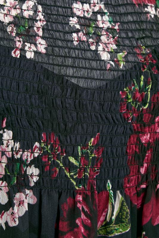 LIMITED COLLECTION Black Floral Shirred Maxi Dress_s.jpg
