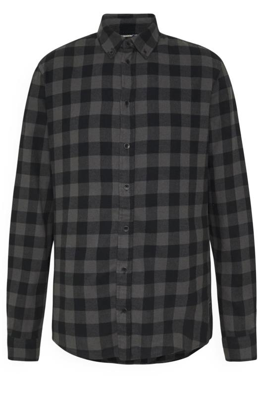 Casual / Every Day Tallas Grandes BLEND Grey Check Cotton Shirt