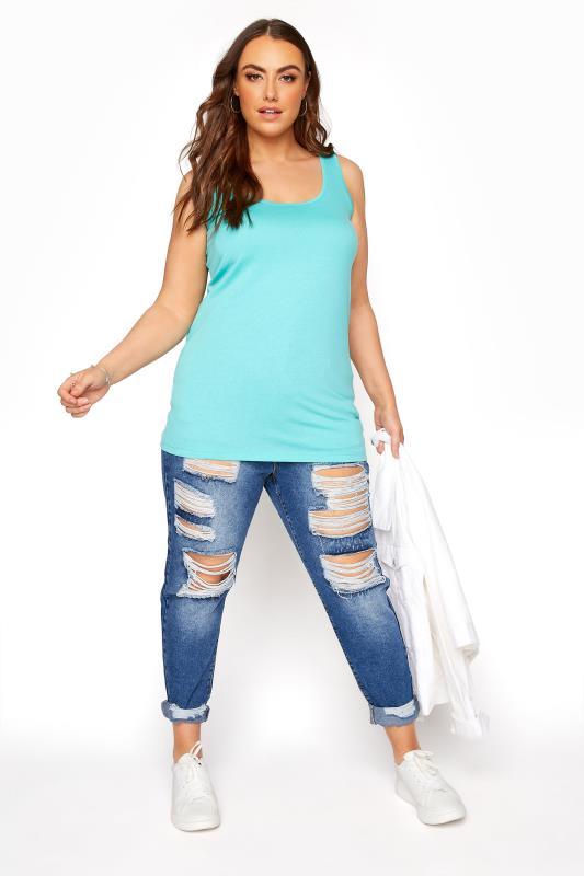 Turquoise Blue Vest Top