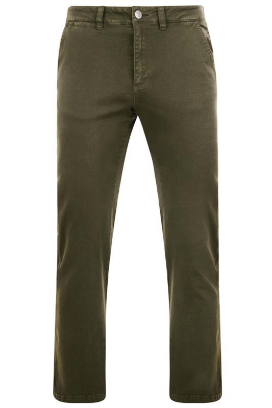 Chinos & Cords Tallas Grandes KAM Khaki Chino Trousers