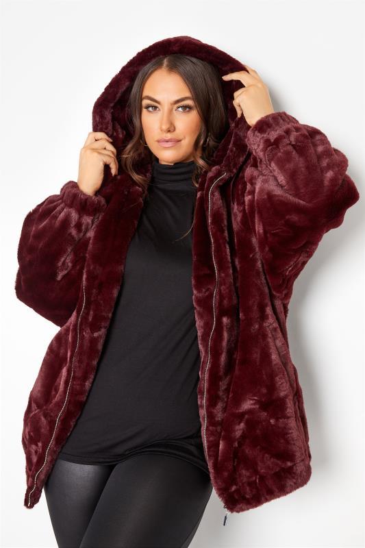 Burgundy Faux Fur Oversized Jacket_DR.jpg