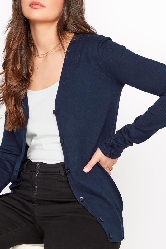 Navy Buttoned Knitted Cardigan_D.jpg