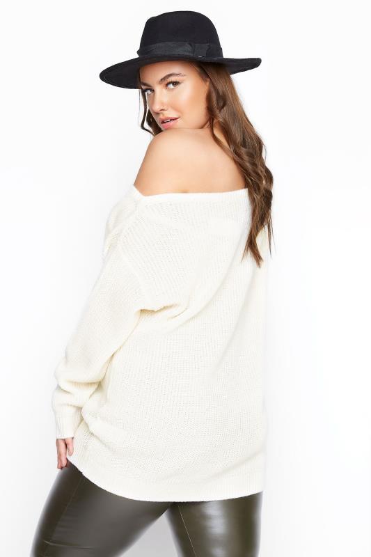 Cream Bardot Knitted Jumper_C.jpg