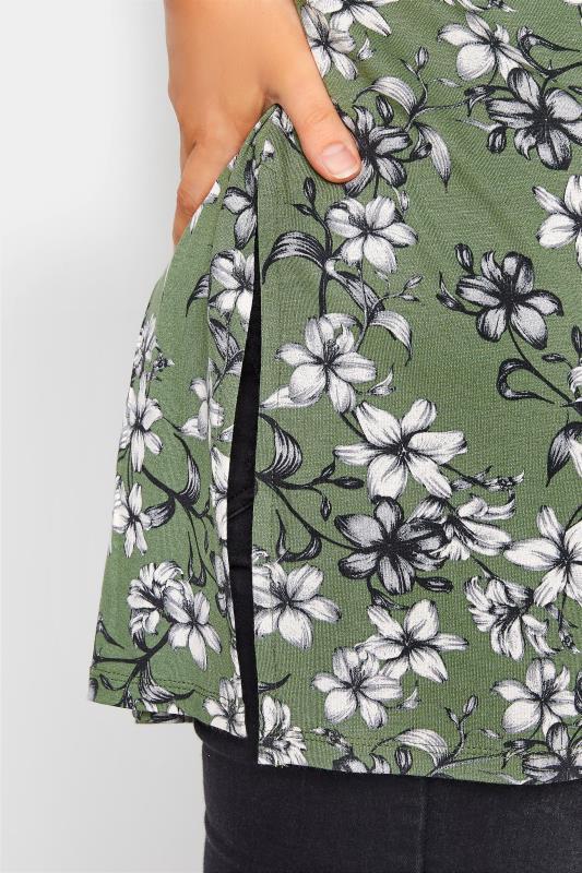 Green Floral Split Hem Tunic_D.jpg