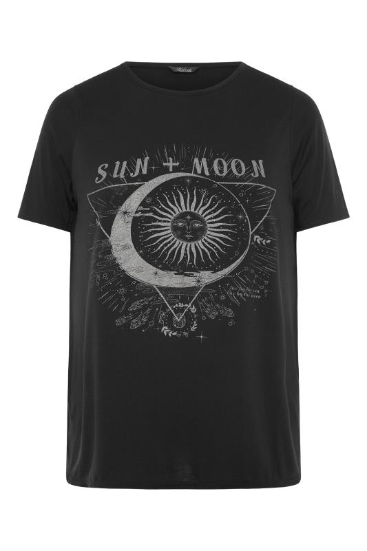 LIMITED COLLECTION Black Sun & Moon Graphic Print T-Shirt_F.jpg
