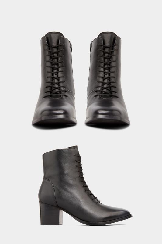 Black Leather Lace Up Heeled Boots In Extra Wide Fit_split.jpg