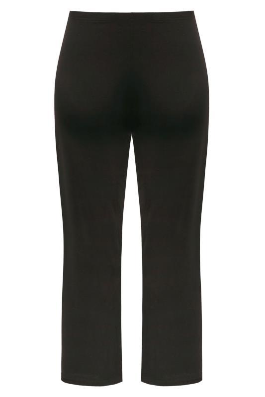 Zwarte broek met wijde broekspijpen