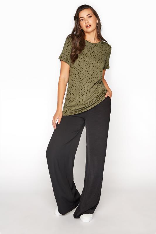 LTS Khaki Polka Dot Print T-Shirt_B.jpg