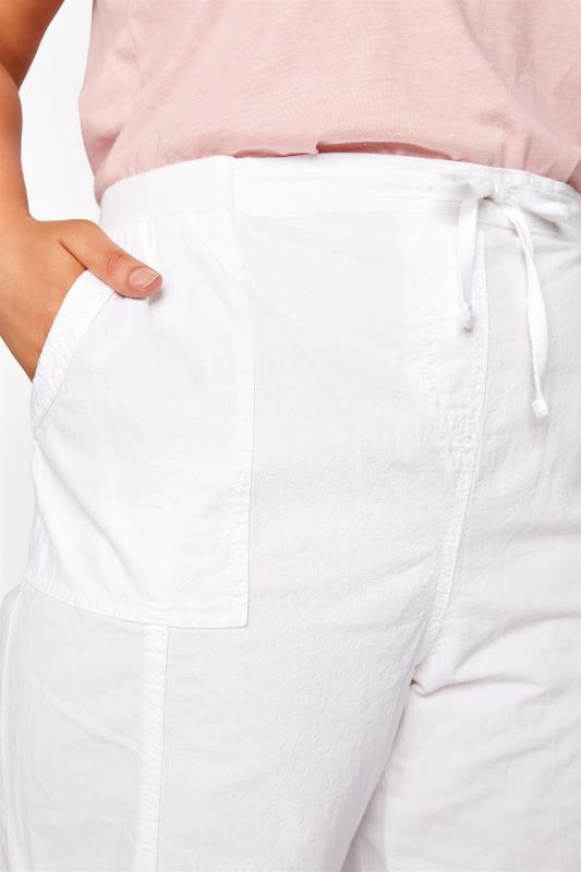 White Cool Cotton Pull On Shorts_D.jpg