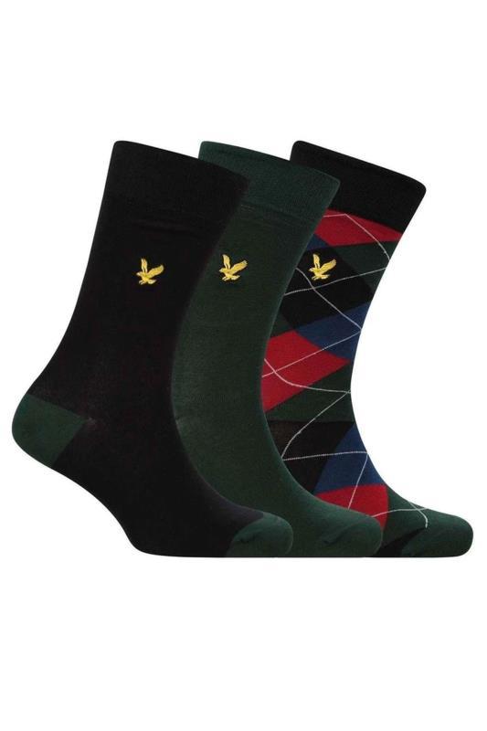 LYLE & SCOTT 3 PACK Multi Branded Crew Socks
