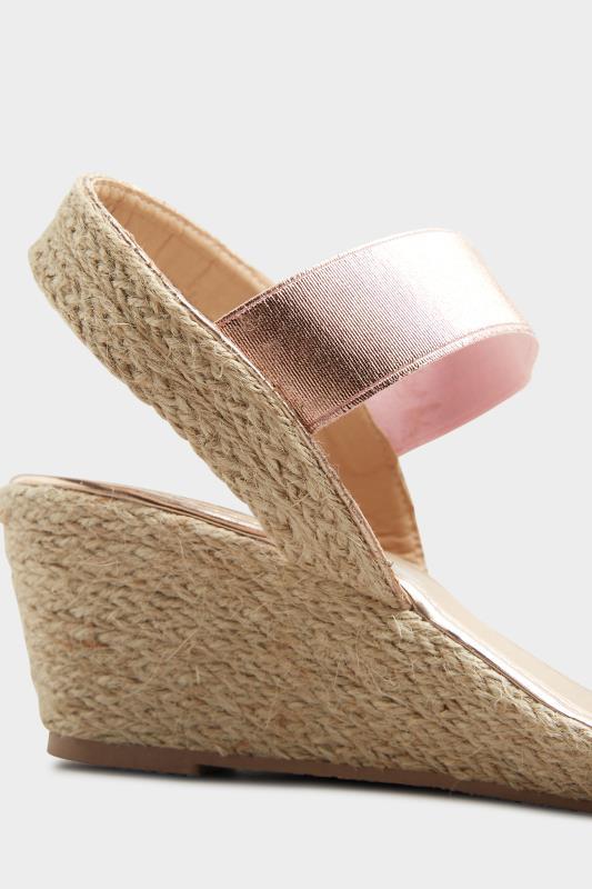 Rose Gold Espadrille Wedge Sandals In Wide Fit_D.jpg