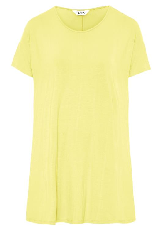LTS Yellow Soft Touch Grown On Sleeve T-Shirt_f.jpg