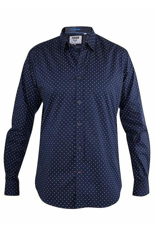 D555 Navy Augusta Printed Shirt