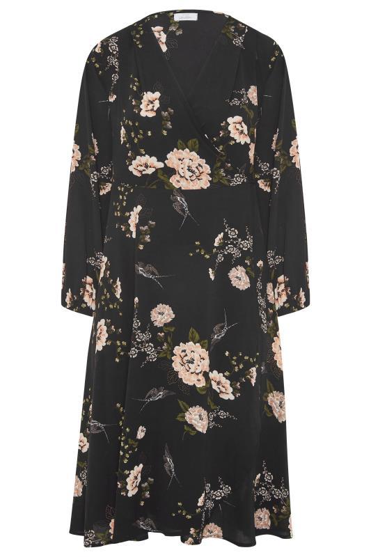 YOURS LONDON Black Floral Print Midi Dress_F.jpg