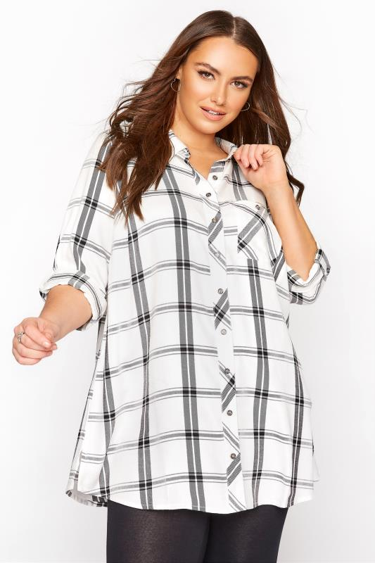 Mono Check Boyfriend Shirt