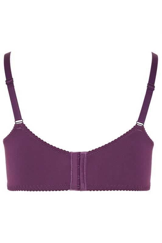 Purple Stretch Lace Wired Bra