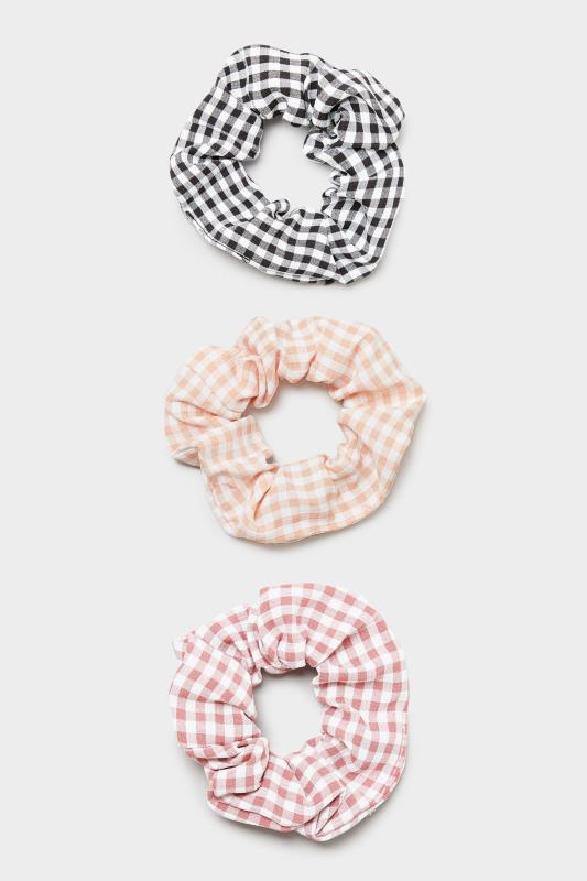 3 Pack Pink and Black Gingham Scrunchie Set_F.jpg
