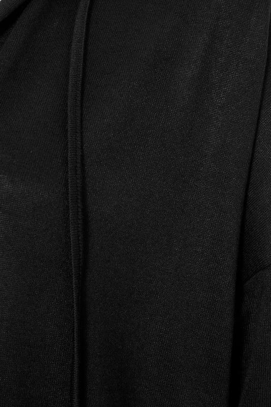 Black Hooded Knitted Cardigan_S.jpg
