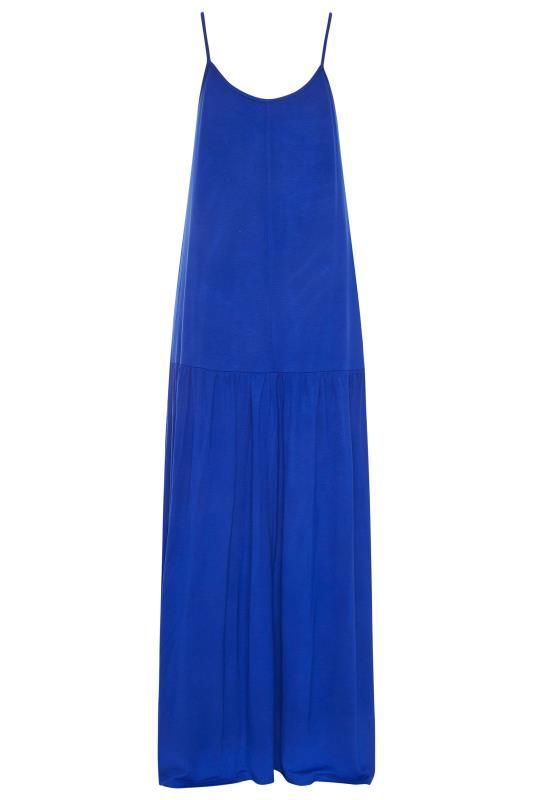LTS Cobalt Blue Strappy Drop Waist Maxi Dress_BK.jpg