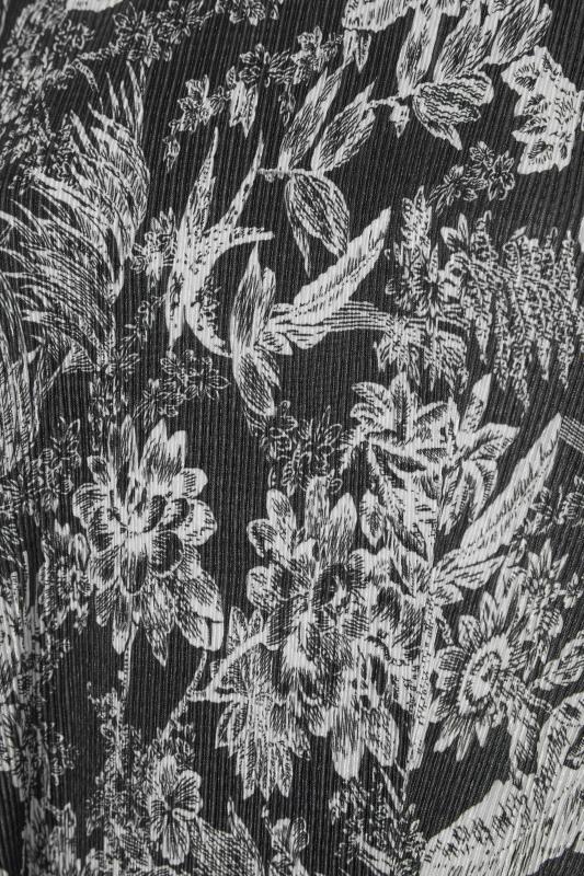 Black Leaf Print Short Sleeve Top_S.jpg