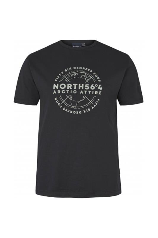 Plus Size  NORTH 36°4 Black Globe T-Shirt