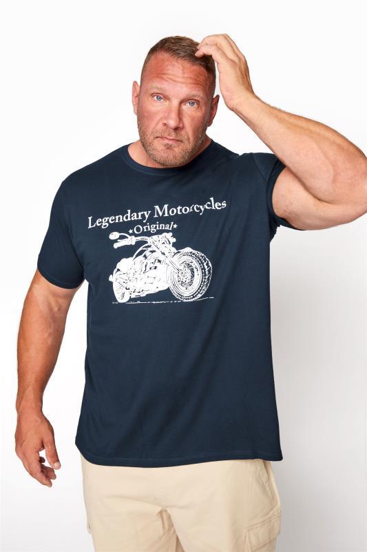 BadRhino T-Shirt mit Legendary Motorcycles-Motiv - Navy