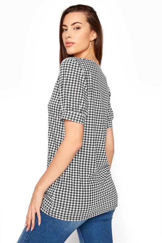 LTS Black Gingham Puff Sleeve T-Shirt_C.jpg