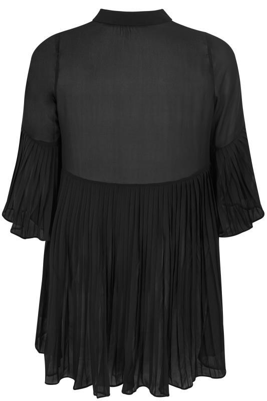 Black Pleated Longline Shirt_BK.jpg